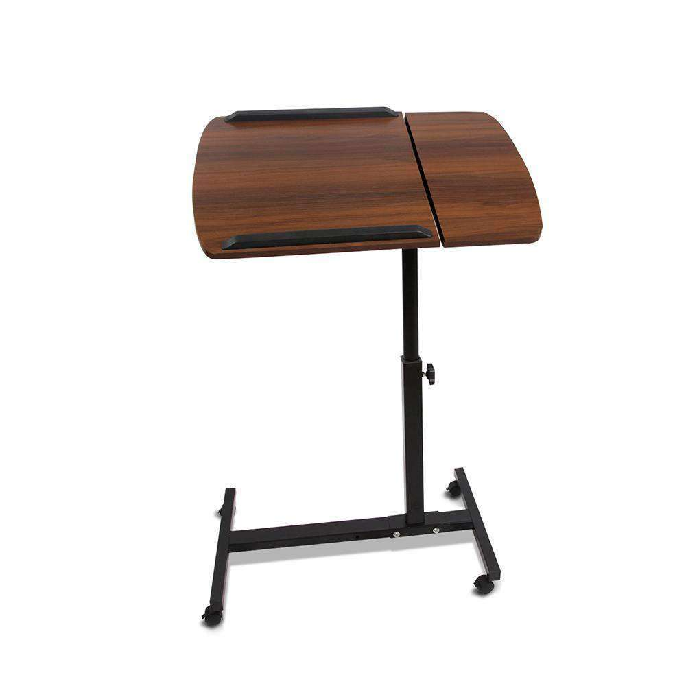 Rotating Mobile Laptop Adjustable Desk Walnut