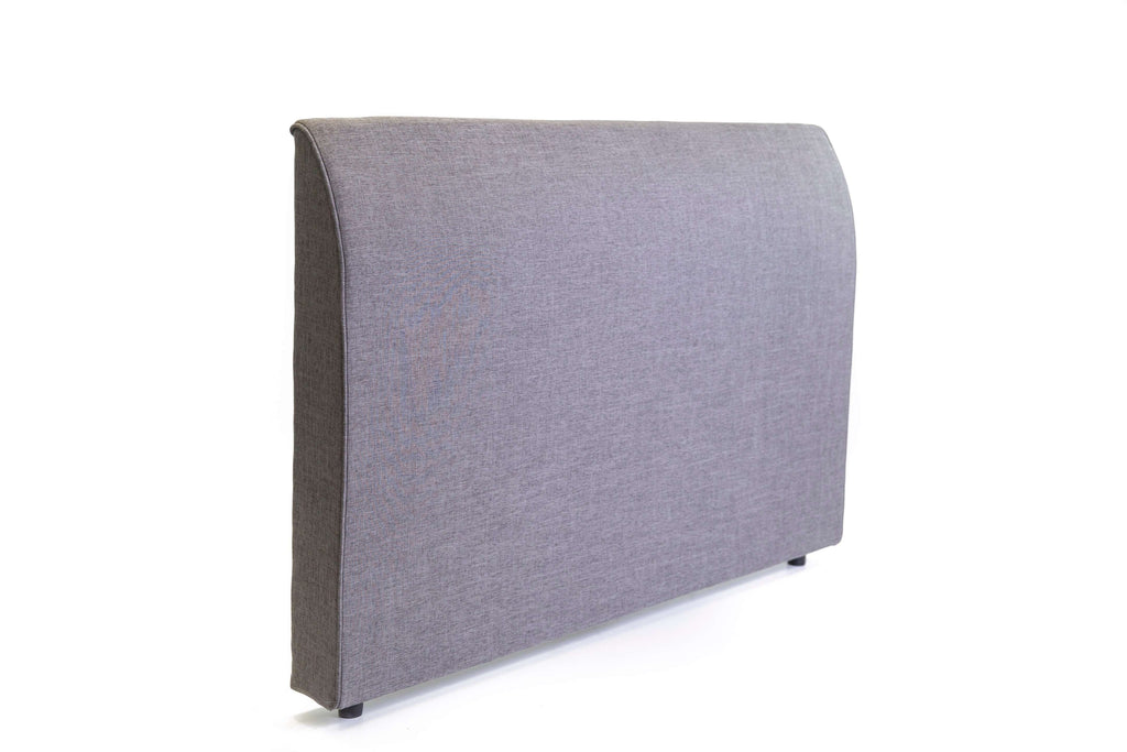 Aiden Freestanding Bedhead Queen Size - Fabric Grey