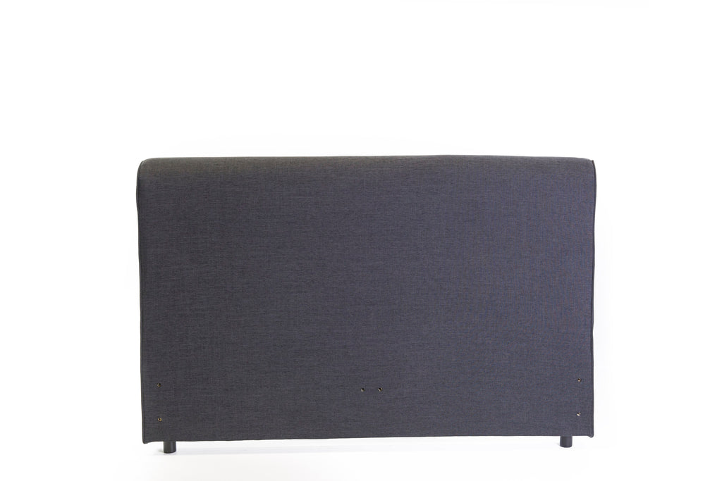Aria Freestanding Bedhead Queen Size - Fabric Charcoal