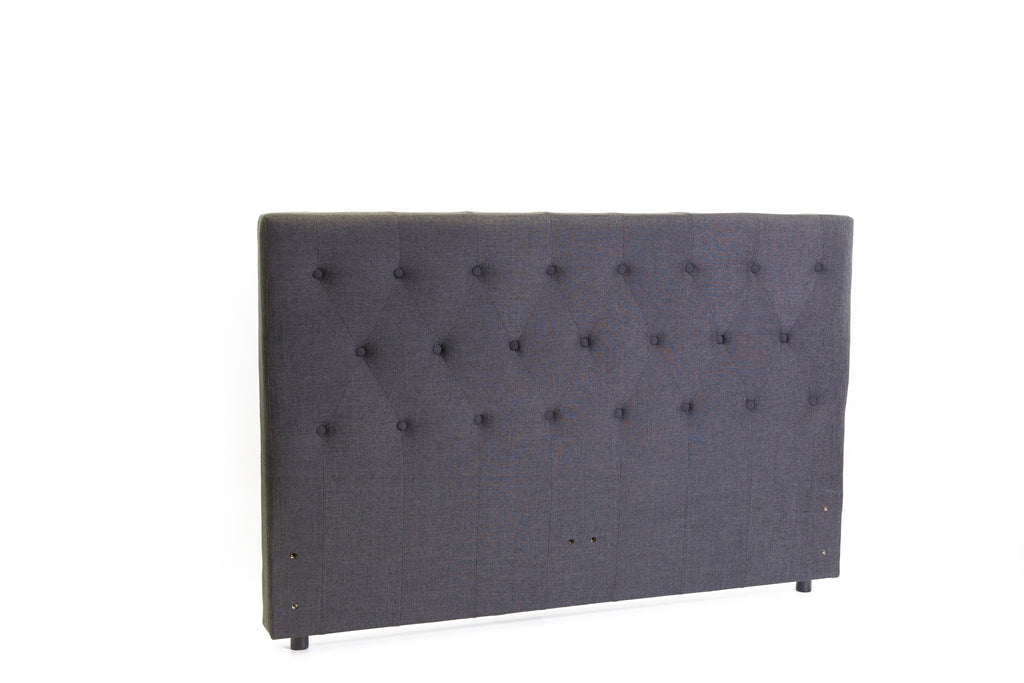 Ada Freestanding Bedhead Queen Size - Fabric Charcoal