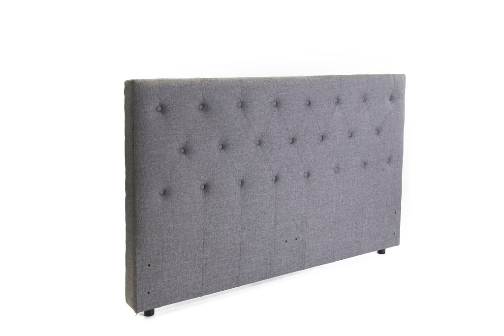 Ada Freestanding Bedhead Queen Size - Fabric Grey