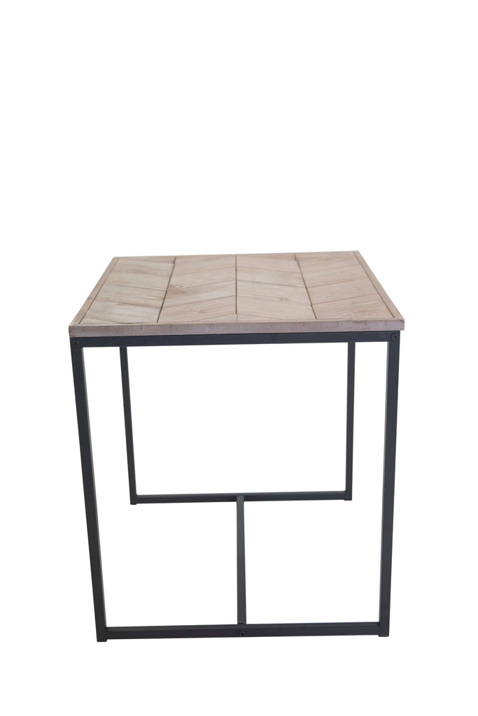Avoca Chevron Side Table 48cm