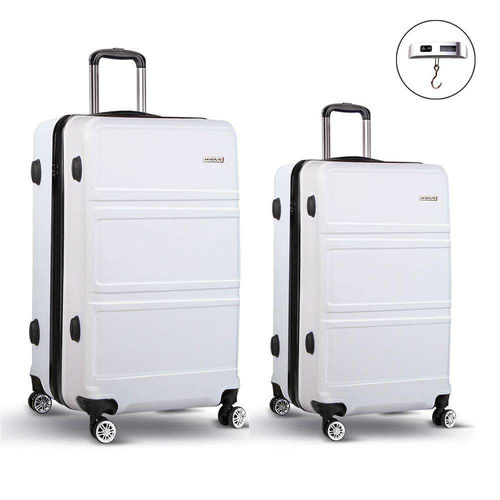 "2pc Luggage Set 20 & 28"" - White"""