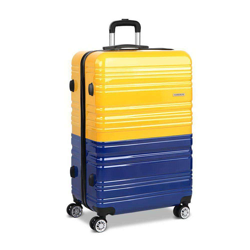 28 Inch Luggage Suitcase Trolley - Yellow & Purple