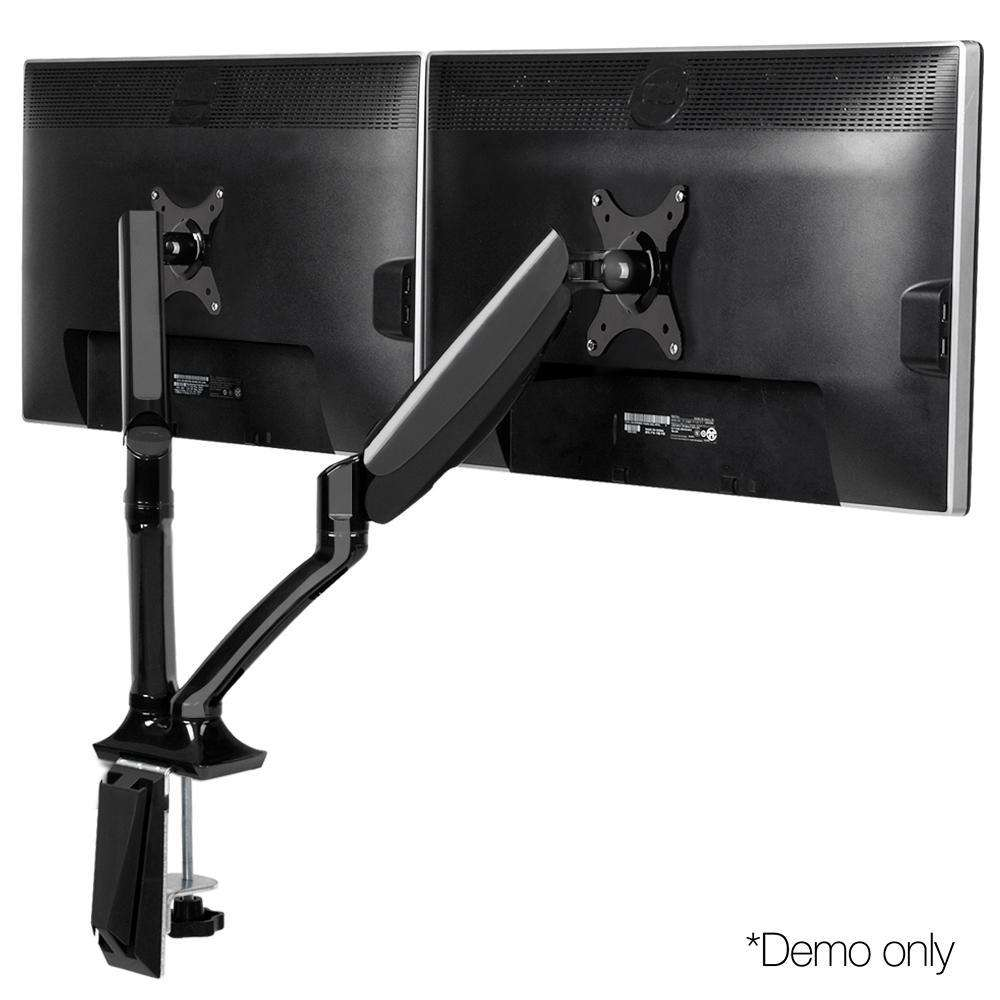Fully Adjustable Dual Monitor Arm Stand Black
