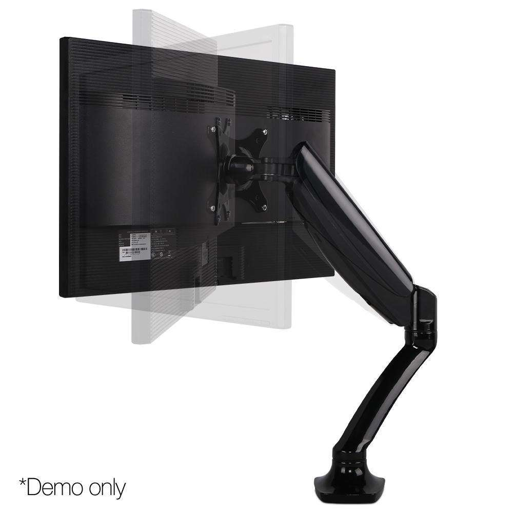 Adjustable Monitor Arm Desk Mounted - Black