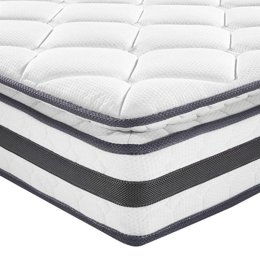 Giselle Bedding Queen Size Pillow Top Foam Mattress