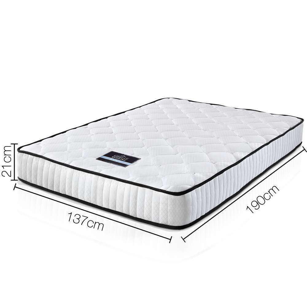 High Density Foam Pocket Spring Mattress 21cm Double - Desirable Home Living