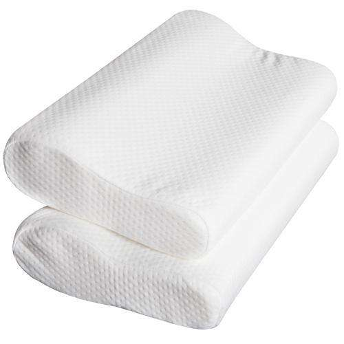Set of 2 Visco Elastic Memory Foam Contour Pillows - Desirable Home Living