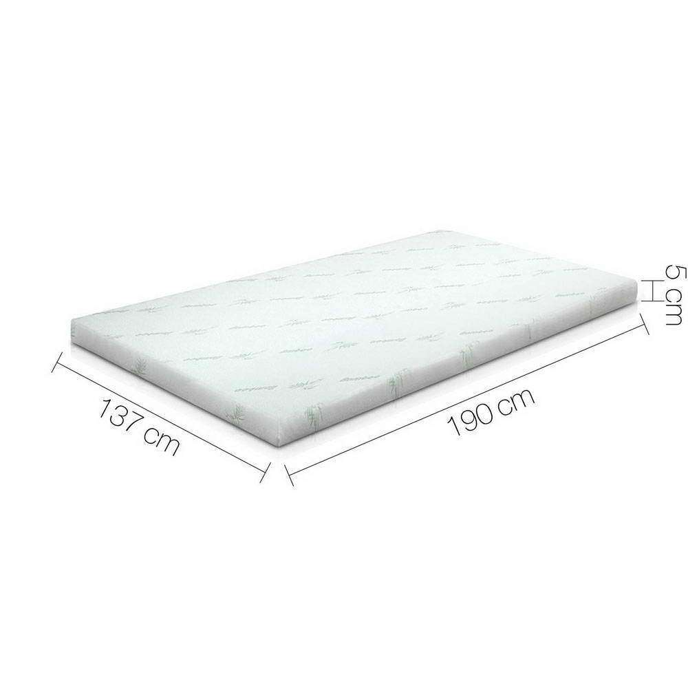 Giselle Bedding Double Size 5cm Thick Cool Gel Mattress - Blue