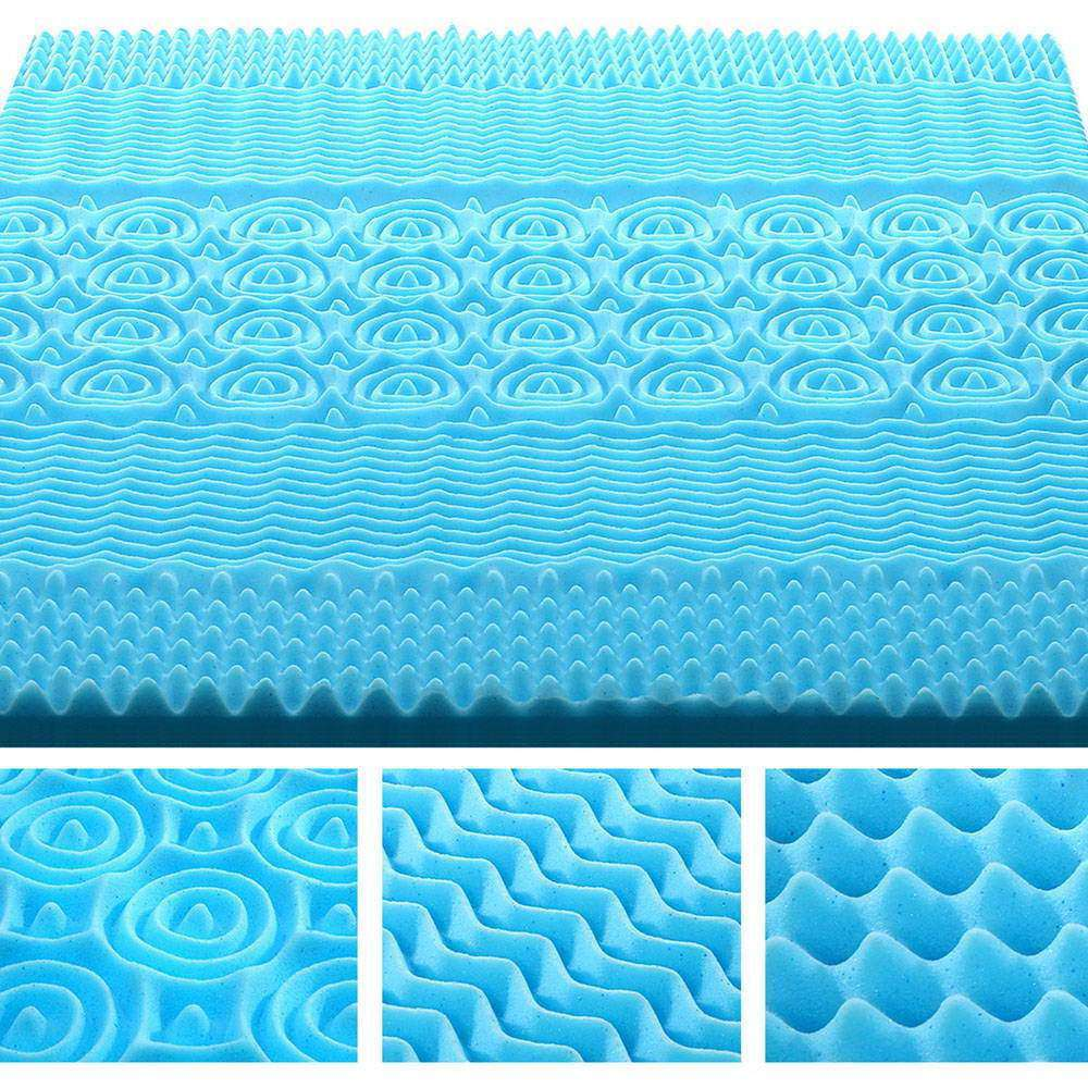 Giselle Bedding Queen Size 5cm Thick Bamboo Mattress Topper - Blue