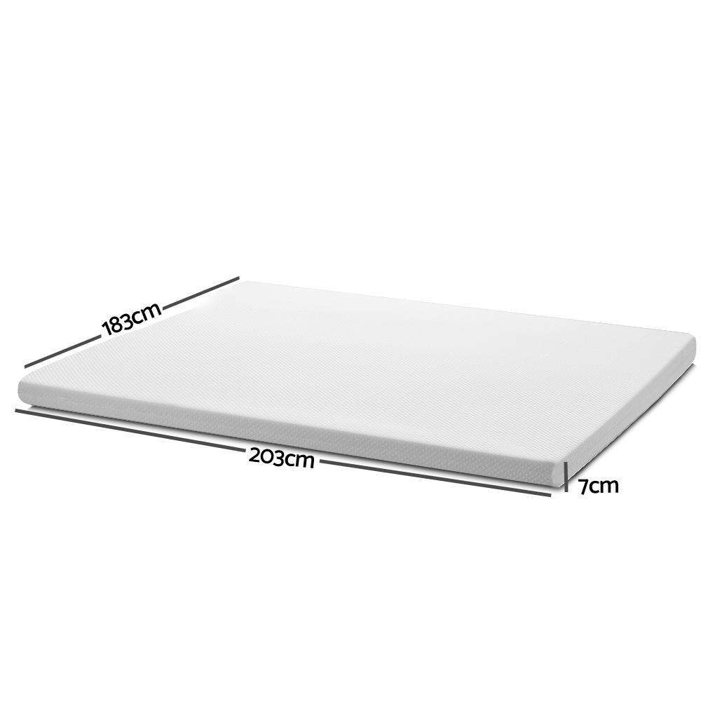 Giselle Bedding Memory Foam Mattress Topper - King