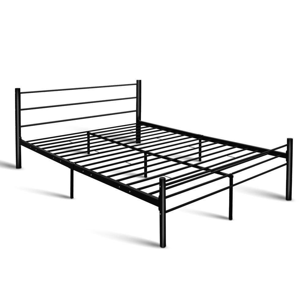 Artiss Metal Queen Bed Frame - Black