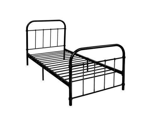 Artiss Metal Single Bed Frame - Black