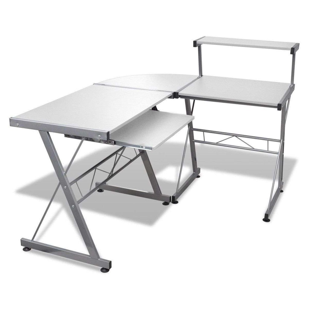 Three-piece Computer Desk White