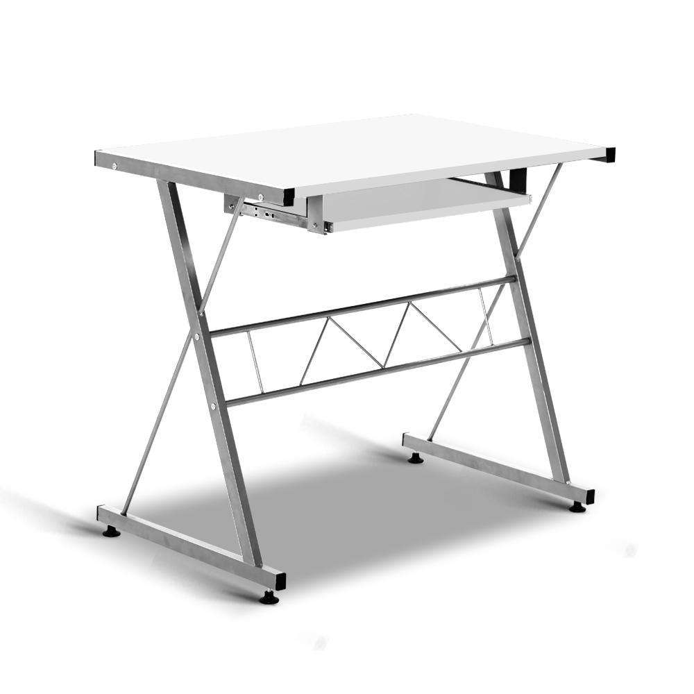 Three-piece Computer Desk White - Desirable Home Living
