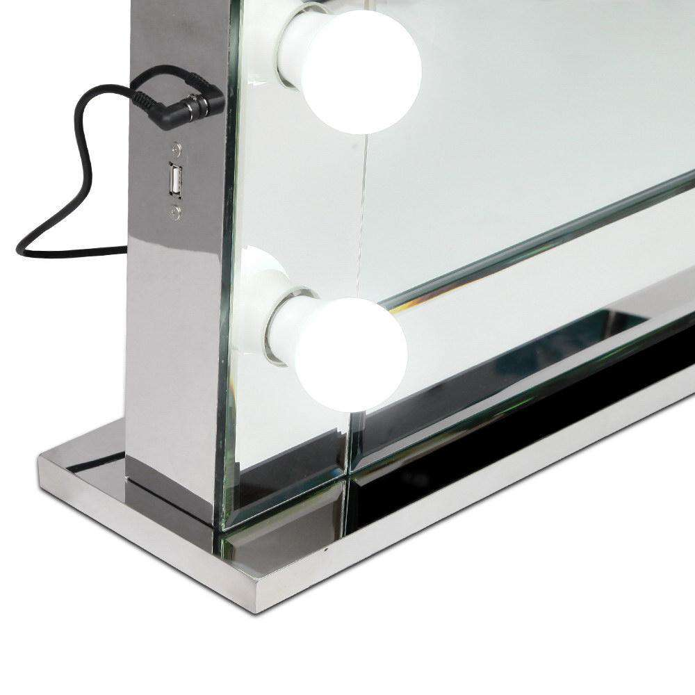 Make Up Mirror Frame with LED Lights 65x80cm - Desirable Home Living
