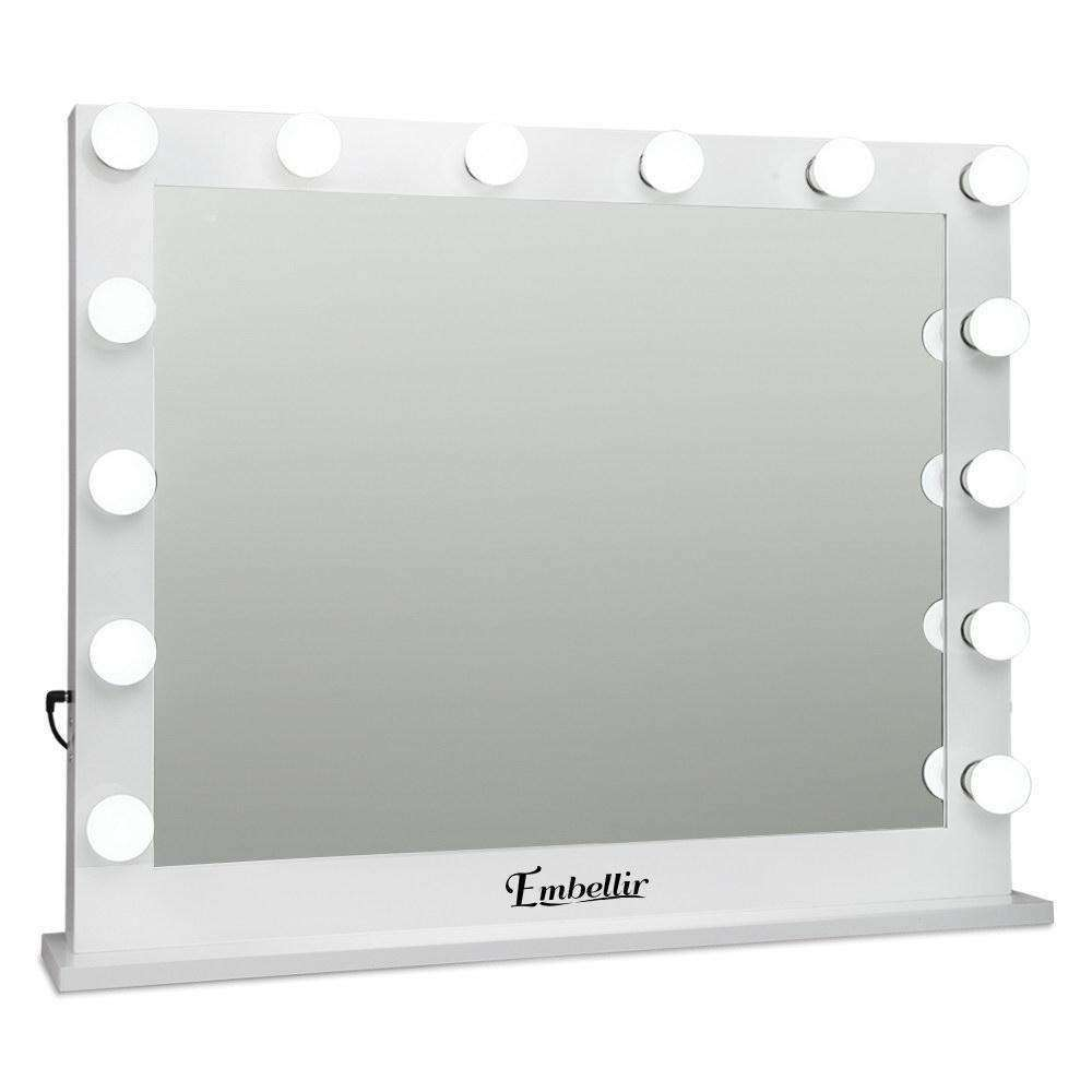 Make Up Mirror Frame with LED Lights 65x80cm White