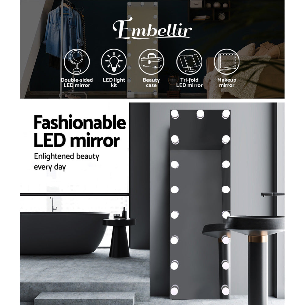 Free Standing Full Length Mirror With Light Bulbs