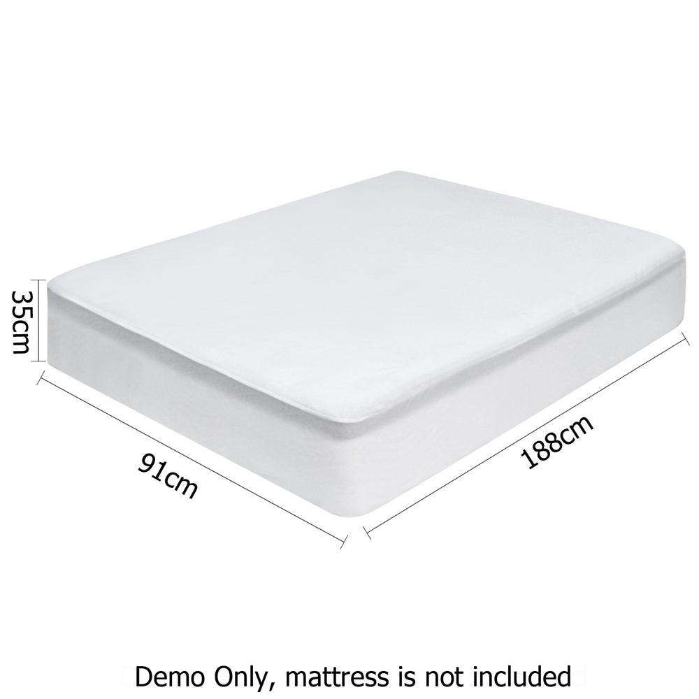 Waterproof Bamboo Mattress Protector - Single - Desirable Home Living