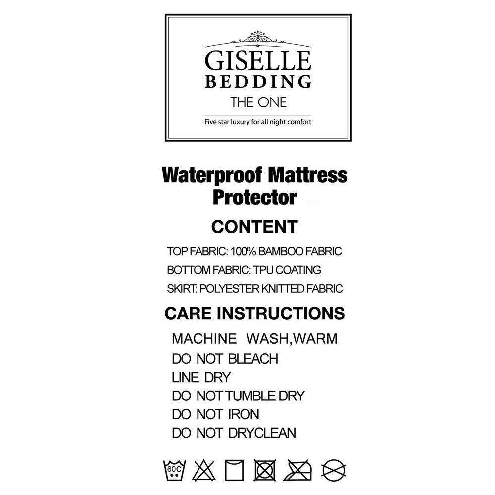 Giselle Bedding Bamboo Mattress Protector Single