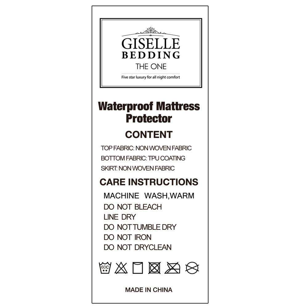 Waterproof Non-Woven Mattress Protector - Double - Desirable Home Living