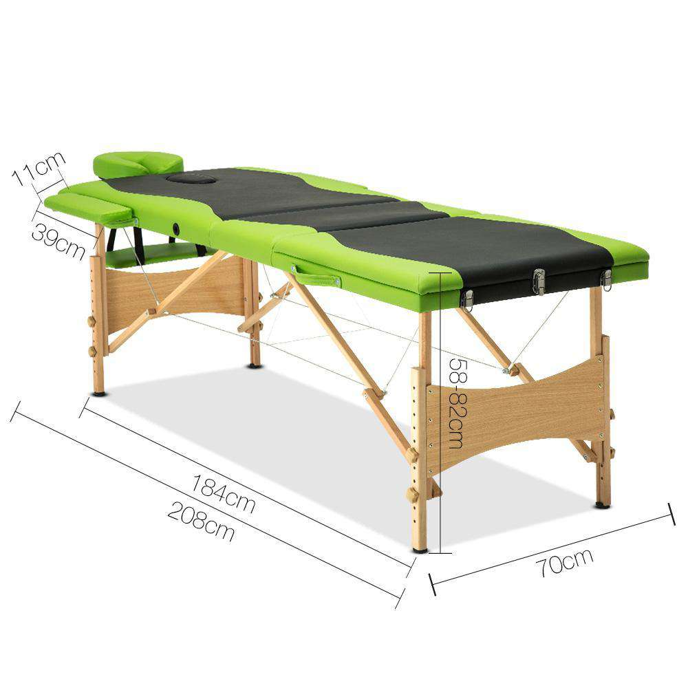Portable Wooden Massage Table - Desirable Home Living