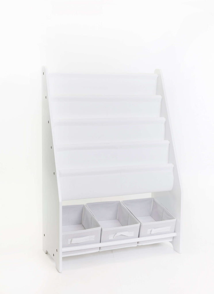 Mia Kids Book Display with 3 Storage tubs