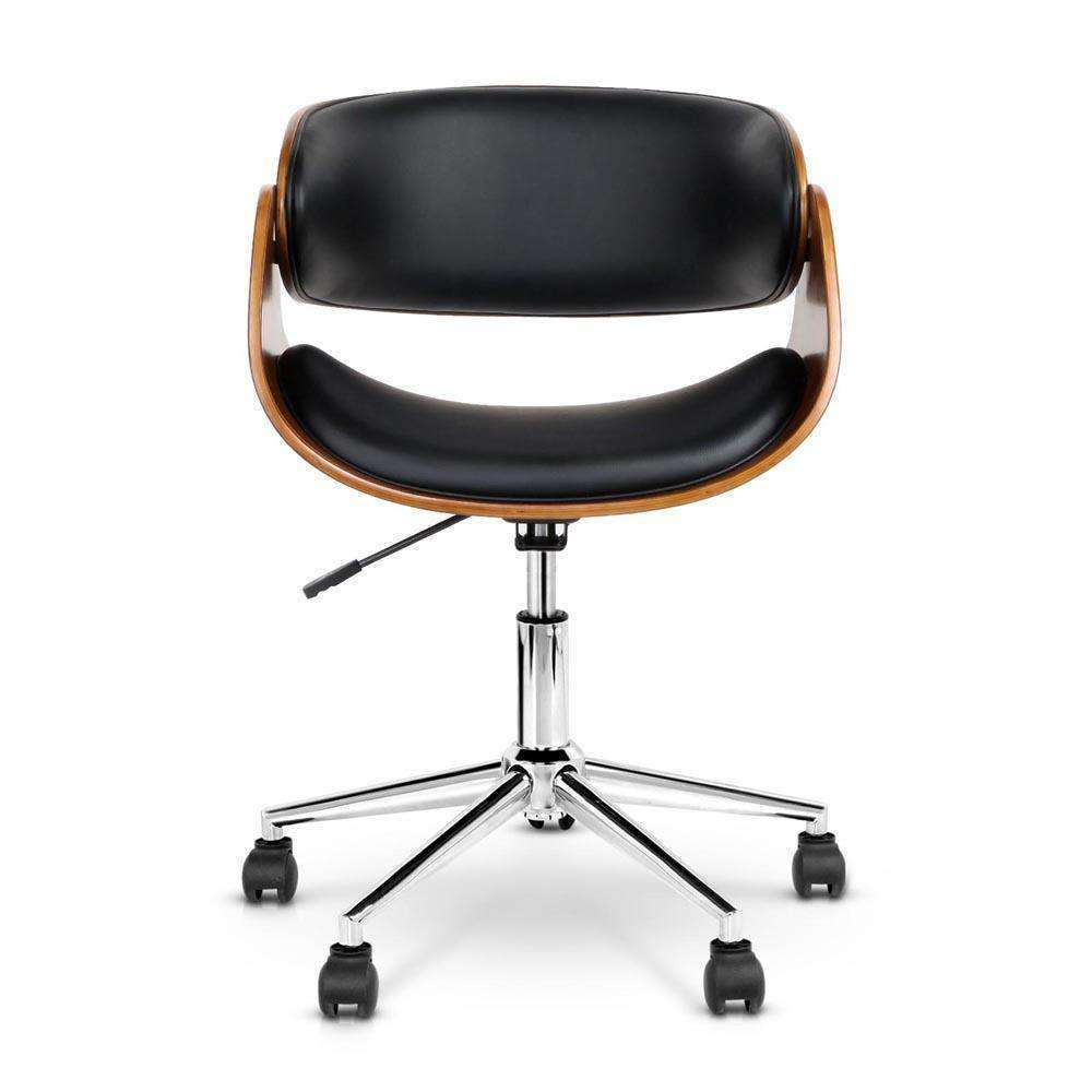 PU Leather Curved Office Chair - Desirable Home Living