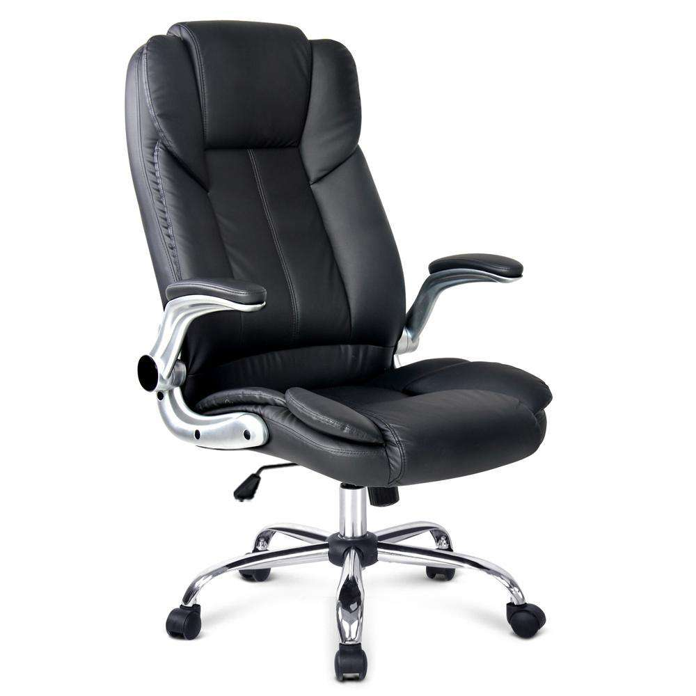 PU Leather Racing Style Office Chair Black
