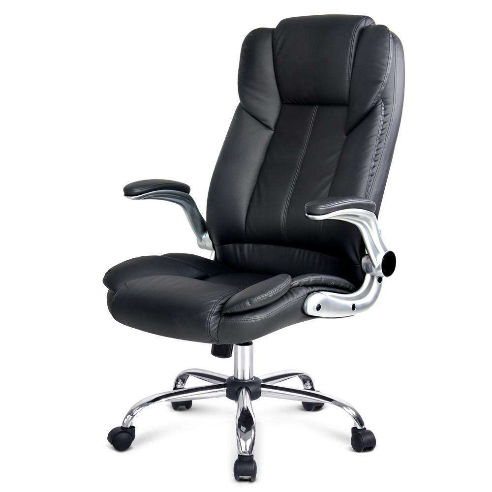 PU Leather Racing Style Office Chair Black - Desirable Home Living