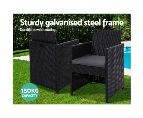 2x Gardeon Patio Furniture Outdoor Dining Chairs