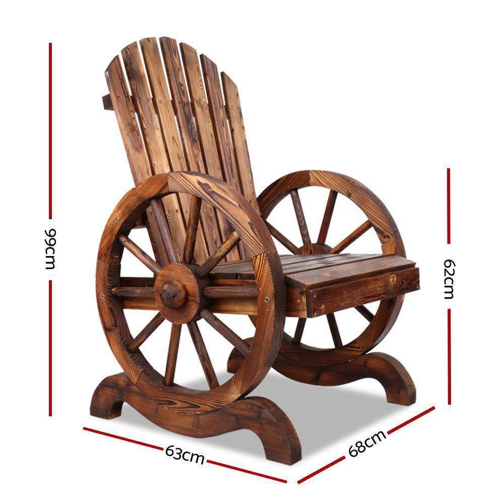 Gardeon Wooden Wagon Chair Outdoor