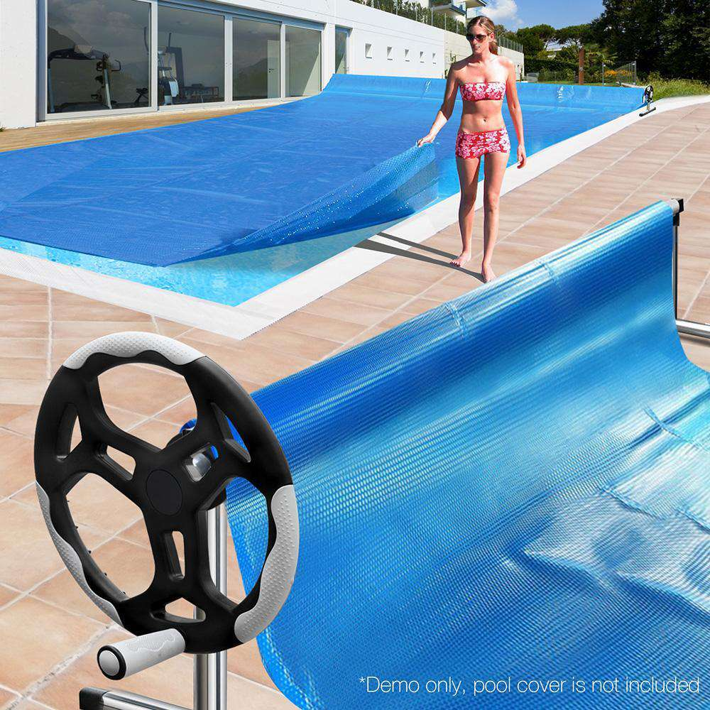 Stainless Steel Frame w/ Aluminium Pool Roller - Desirable Home Living