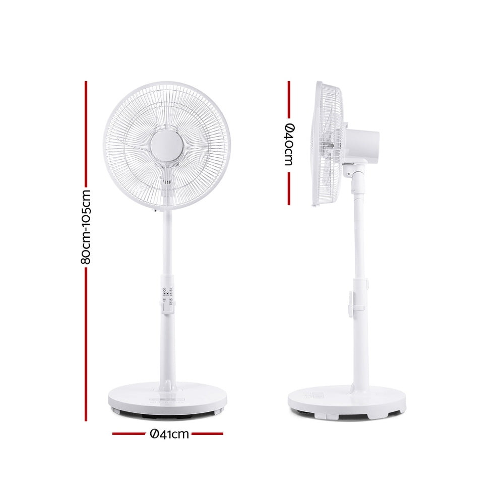 40cm Pedestal Fan DC Motor 9 Speeds Remote Control