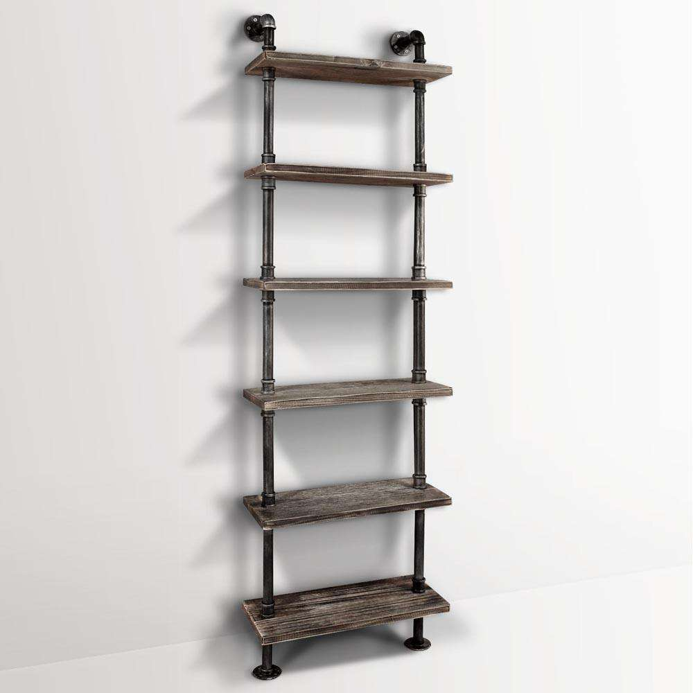 DIY Industrial 6 Level Pipe Shelf
