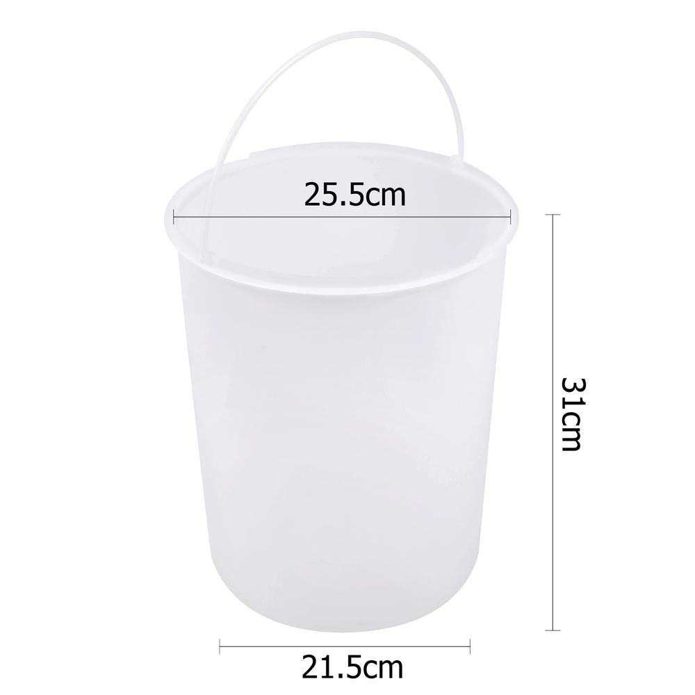 Auto Swing Out Lid Stainless Steel Bin 14L - Desirable Home Living