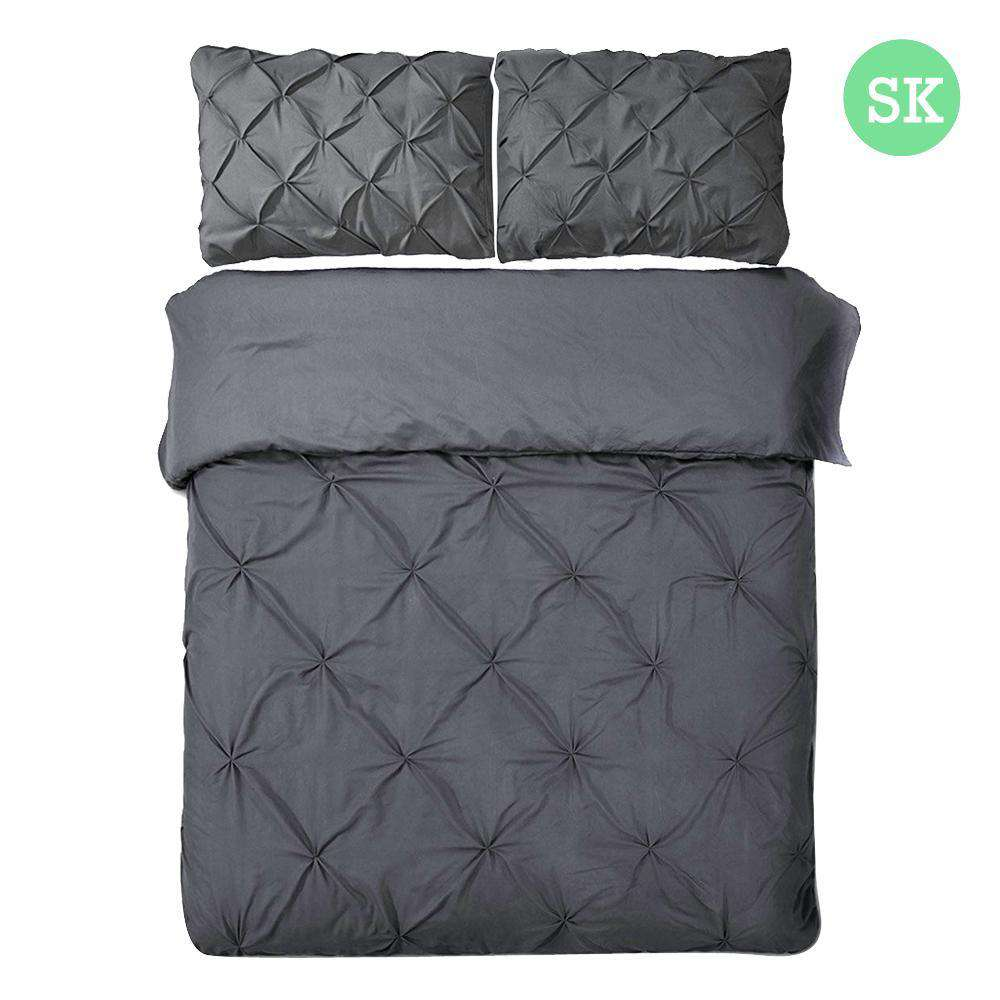 Super King 3-piece Quilt Set Charcoal