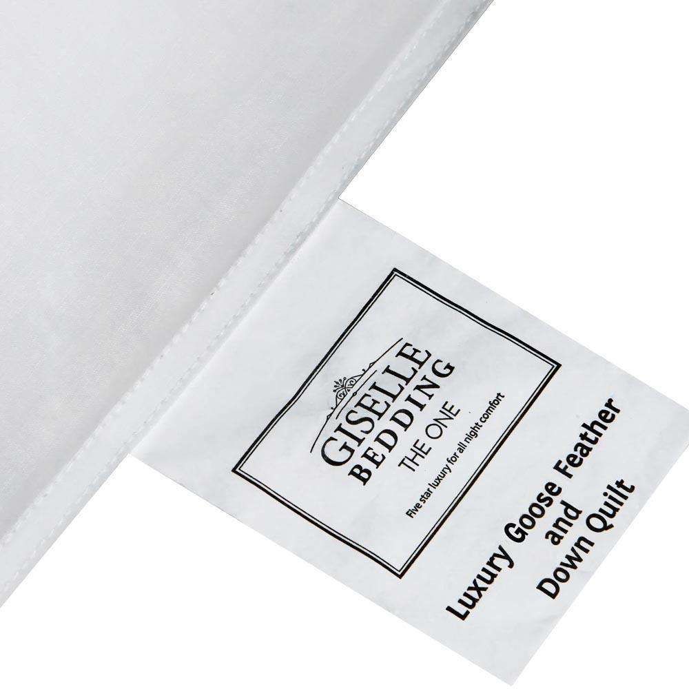 Lightweight Goose Down Feather Quilt Single White - Desirable Home Living