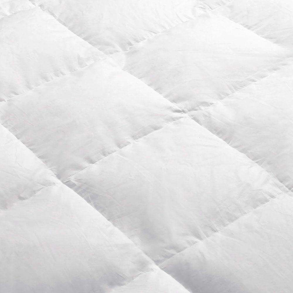 Lightweight Goose Down Feather Quilt Super King White - Desirable Home Living