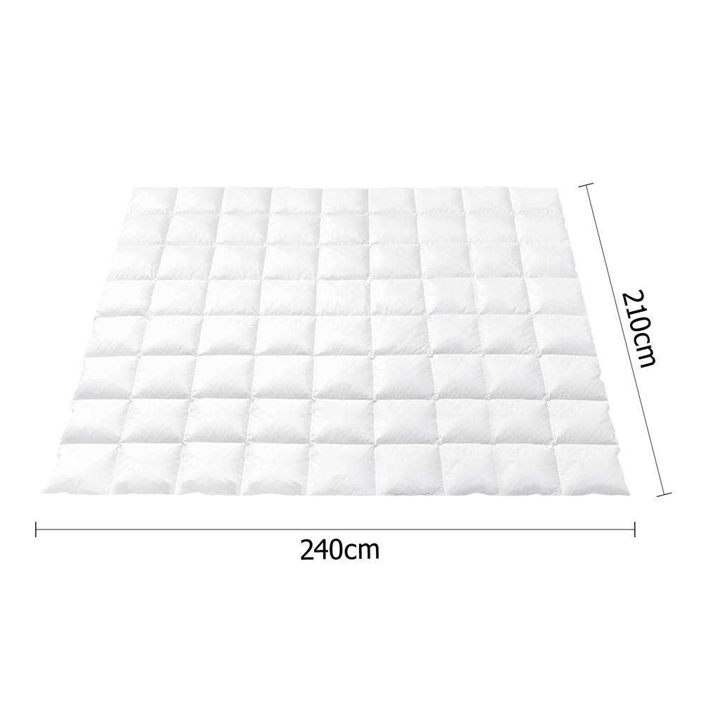 Giselle Bedding Goose Down Feather Quilt 800GSM White King