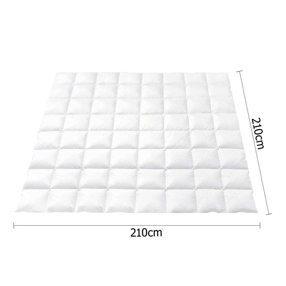 Goose Feather Down Quilt  - Queen - Desirable Home Living