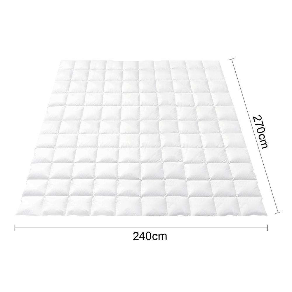 Goose Feather Down Quilt  - Super King - Desirable Home Living