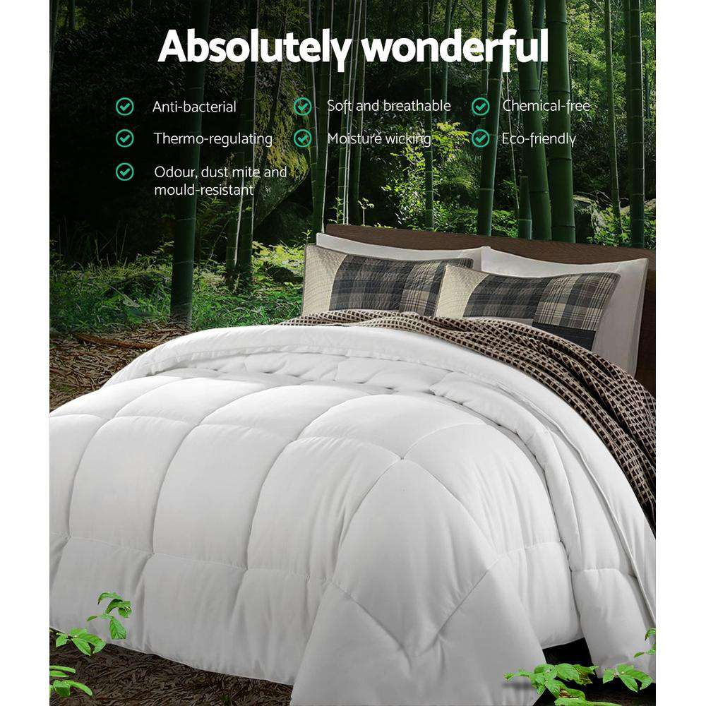 Giselle Bedding 800GSM Microfiber Microfire Quilt Winter Duvet Cover Doona Super King