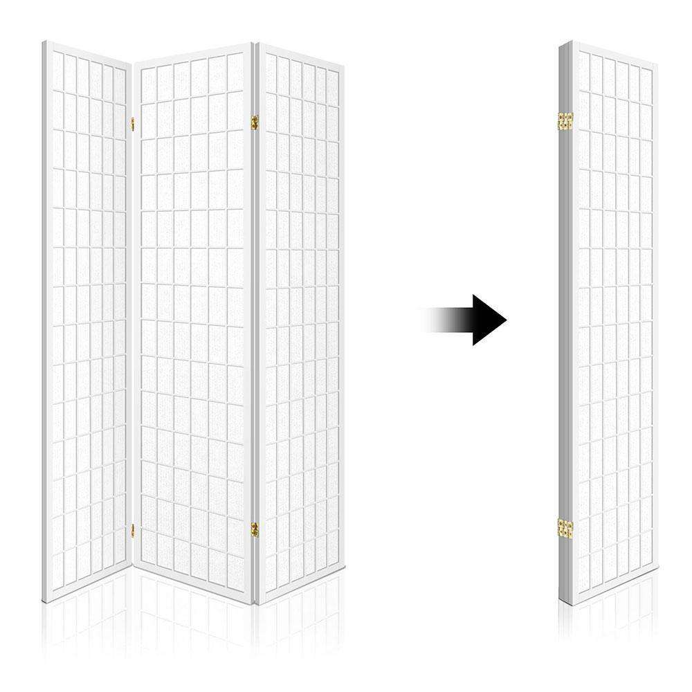 3 Panel Room Divider - White - Desirable Home Living