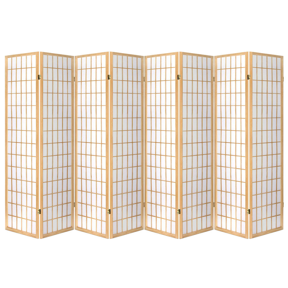 Artiss 8 Panel Room Divider Privacy Screen Dividers Stand Oriental Vintage Natural