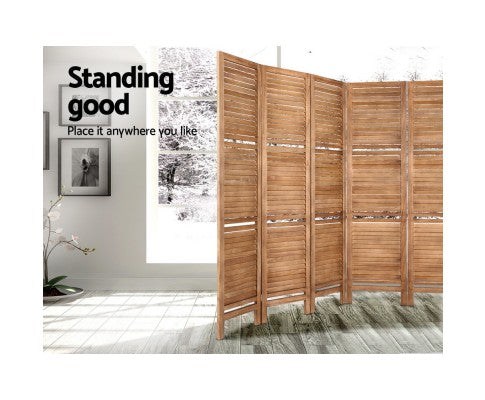 Artiss Room Divider Screen 8 Panel Timber Stand
