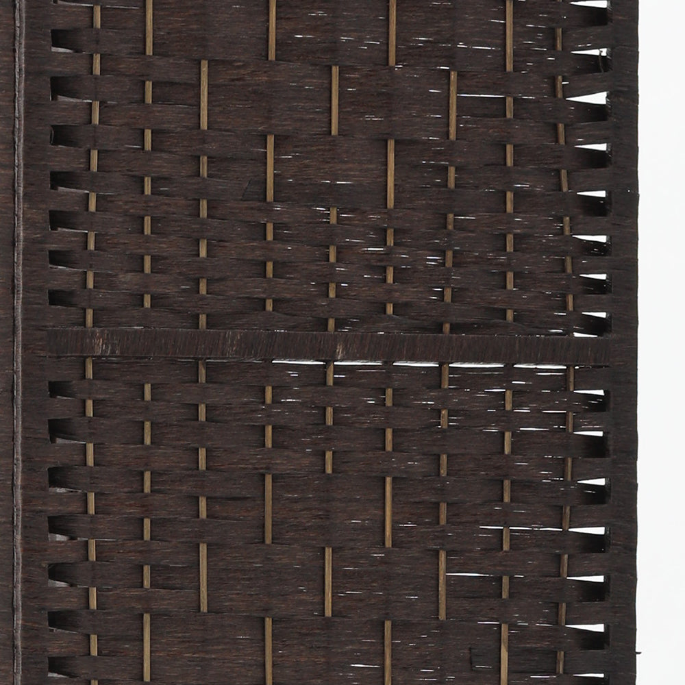 Artiss Room Divider 8 Panel Dividers Rattan Stand Brown