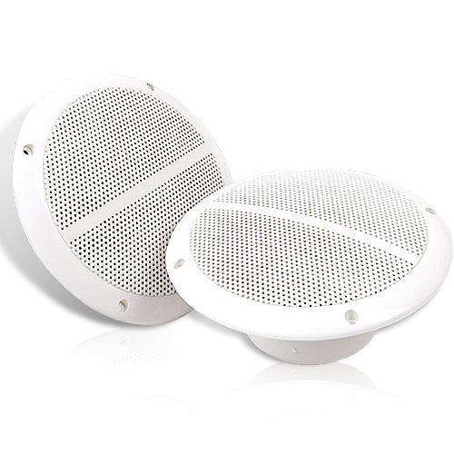 Set of 2 6.5 inch 2-Way Outdoor Boat Waterproof Marine Speaker - Desirable Home Living