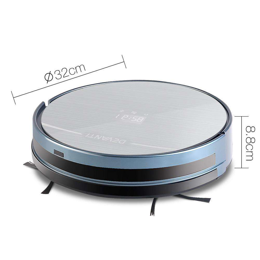 300ml Robot Vacuum Cleaner Silver and Blue - Desirable Home Living